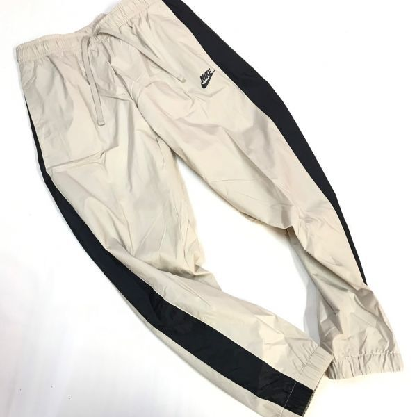 NIKE ナイキ ウーブントラックスーツ パンツ 上下セット ベージュ黒 XL 928120-013_画像4