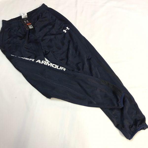 アンダーアーマー UNDER ARMOR ウォームアップジャケットパンツ 上下セット 紺/黒白 S  MSC3903/3904_画像3