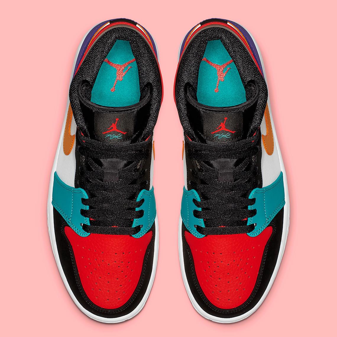 30.5cm /us12.5/ Footpatrol/NIKE AIR JORDAN 1 MID What the NBA Multi Crazy ナイキ ジョーダン マルチ クレイジー TOP3 554724-1_画像4