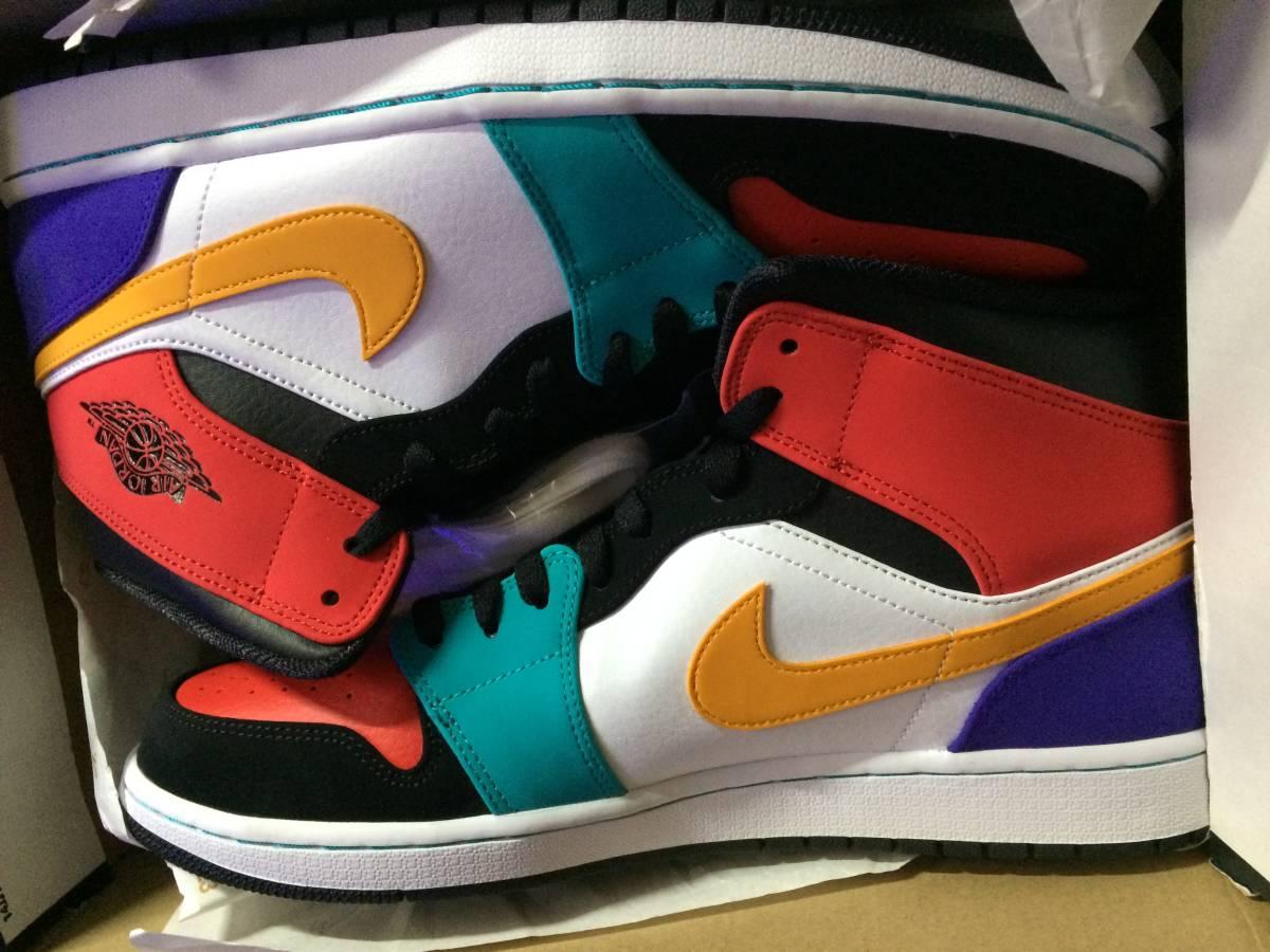 30.5cm /us12.5/ Footpatrol/NIKE AIR JORDAN 1 MID What the NBA Multi Crazy ナイキ ジョーダン マルチ クレイジー TOP3 554724-1_画像10