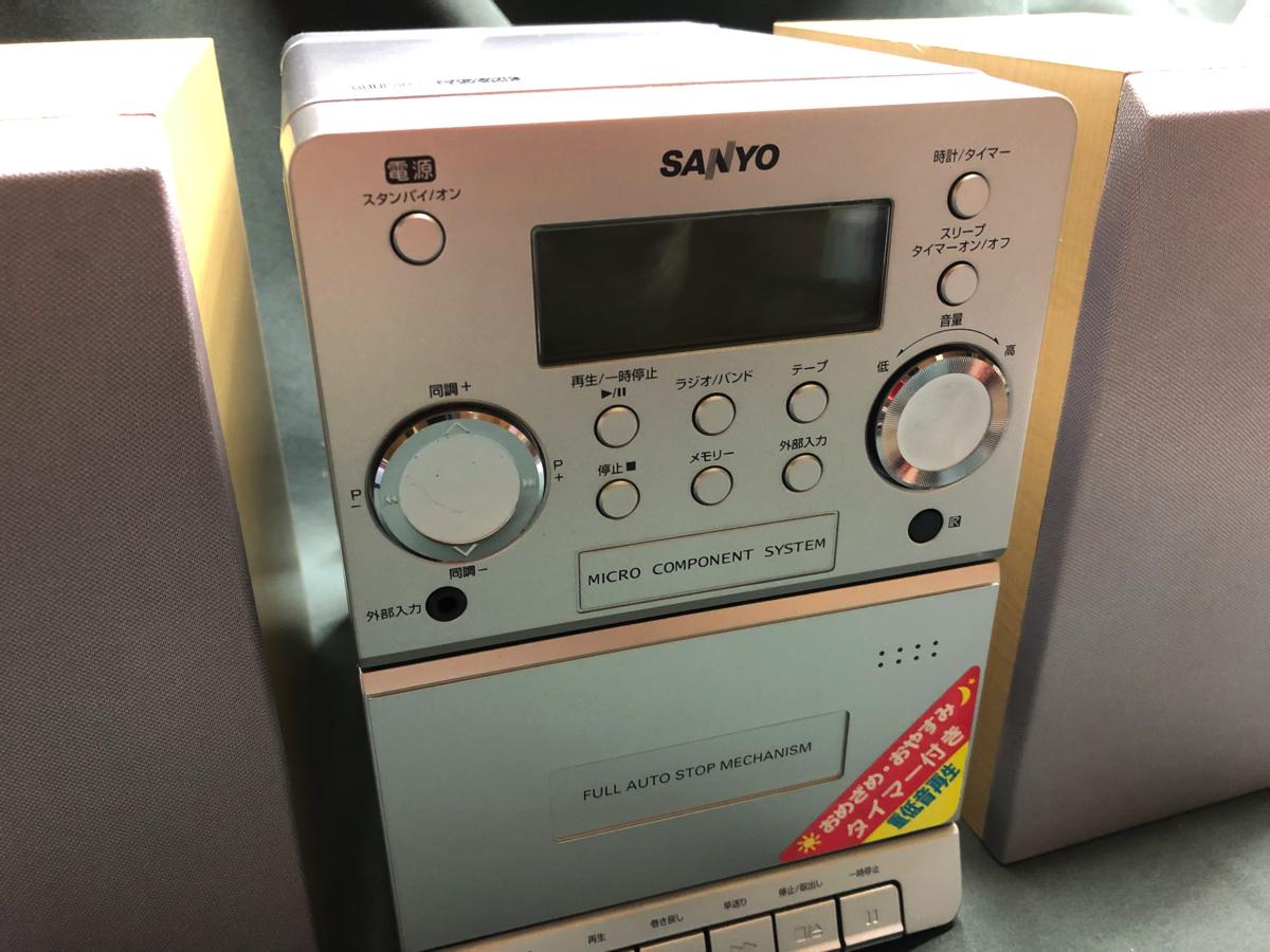 d▲新品ラジカセ▼b SANYO サンヨー《DC-DA83S》マイクロコンポーネントシステム ▲重低音再生/タイマー機能/CD-R/RW再生可能▼_画像2