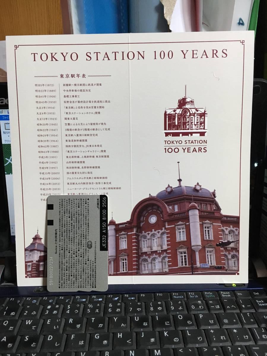 東京駅100周年Suica(台紙折ってません)_画像2
