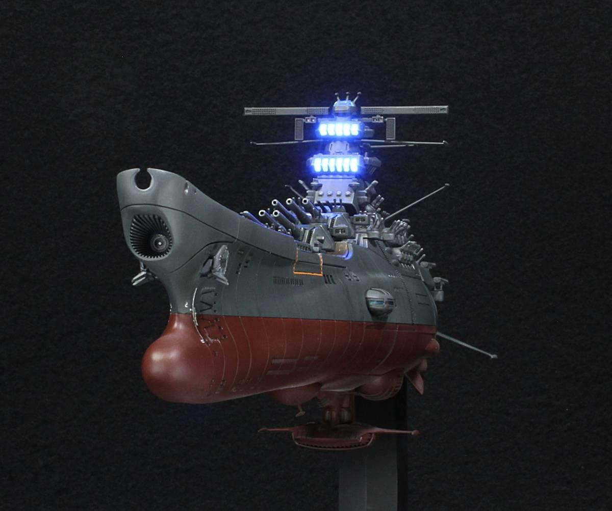 バンダイ 1/1000 宇宙戦艦ヤマト2202(最終決戦仕様)アクション改修ウェザリングVer制作完成品_画像2