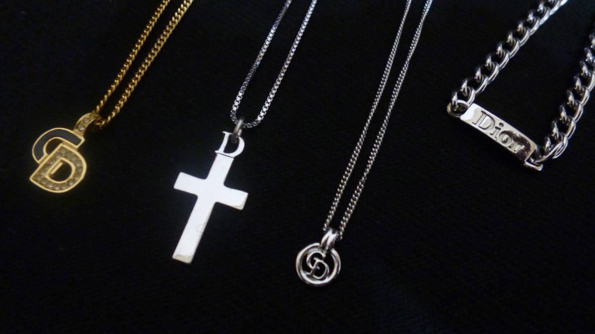 *100円~【美品含む】Christian Dior/クリスチャンディオール ネックレス3点 ブレスレット1点 まとめて4点セット*K-73_画像2