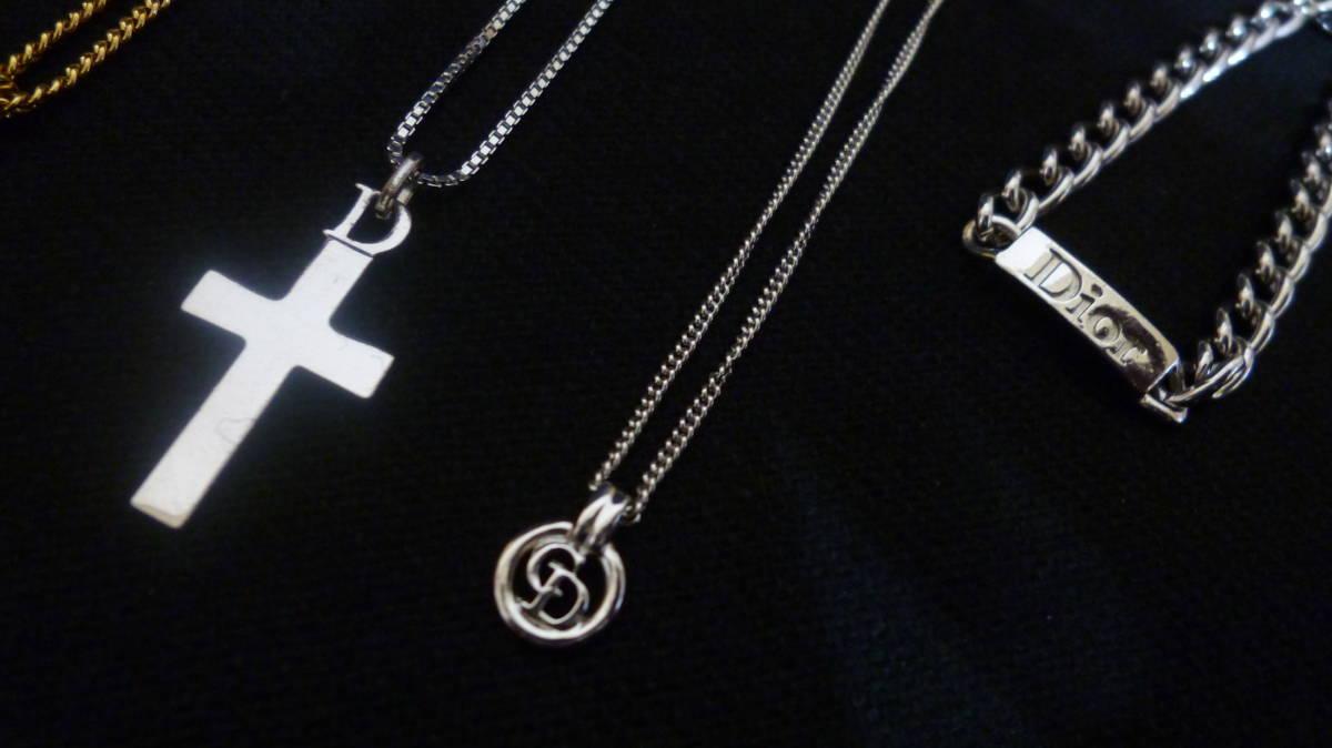 *100円~【美品含む】Christian Dior/クリスチャンディオール ネックレス3点 ブレスレット1点 まとめて4点セット*K-73_画像3