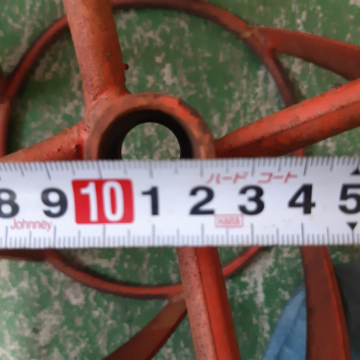 スパイラルローター 左右セット 管理機 部品 パーツ 車輪 除草 中古品_画像5