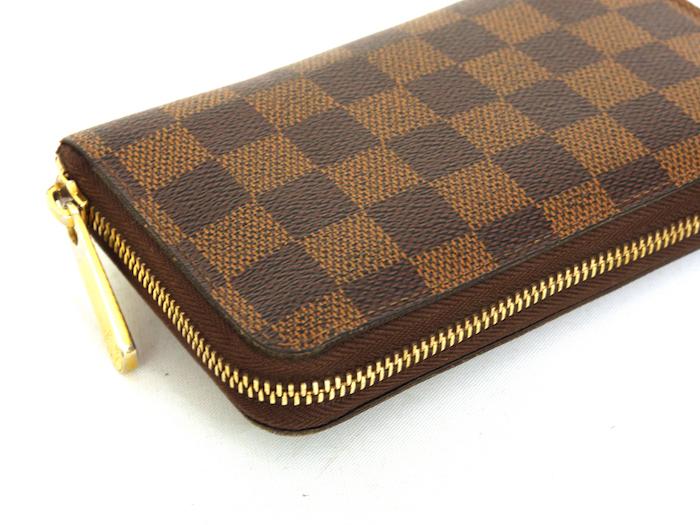 ■【極美品】ルイヴィトン Louis Vuitton ダミエ ジッピーコンパクトウォレット N60028 レザー メンズ 定価約9万_画像3