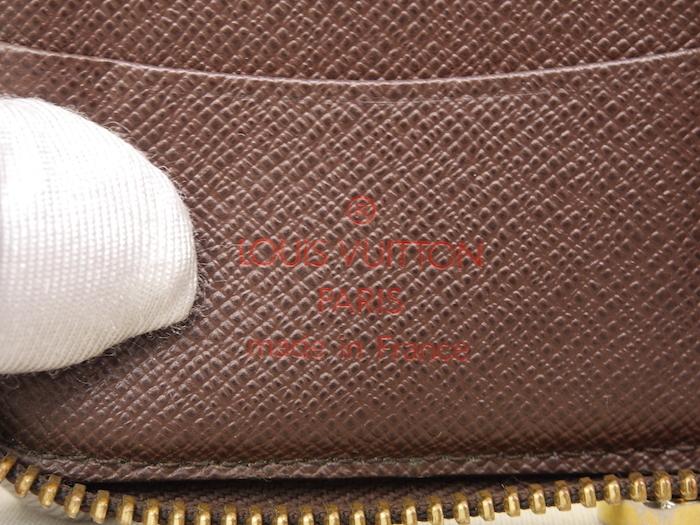■【極美品】ルイヴィトン Louis Vuitton ダミエ ジッピーコンパクトウォレット N60028 レザー メンズ 定価約9万_画像9