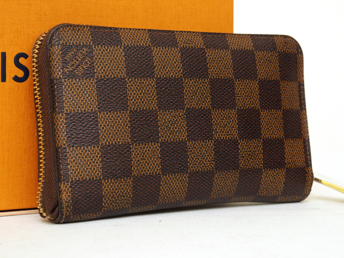 ■【極美品】ルイヴィトン Louis Vuitton ダミエ ジッピーコンパクトウォレット N60028 レザー メンズ 定価約9万_画像2