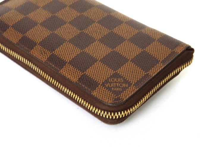 ■【極美品】ルイヴィトン Louis Vuitton ダミエ ジッピーコンパクトウォレット N60028 レザー メンズ 定価約9万_画像4