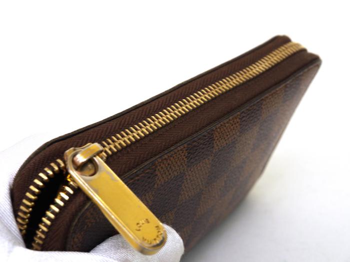 ■【極美品】ルイヴィトン Louis Vuitton ダミエ ジッピーコンパクトウォレット N60028 レザー メンズ 定価約9万_画像6