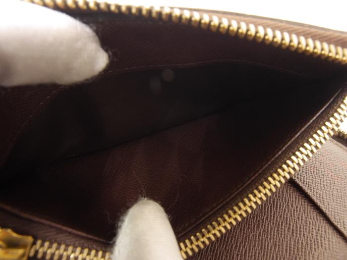 ■【極美品】ルイヴィトン Louis Vuitton ダミエ ジッピーコンパクトウォレット N60028 レザー メンズ 定価約9万_画像8