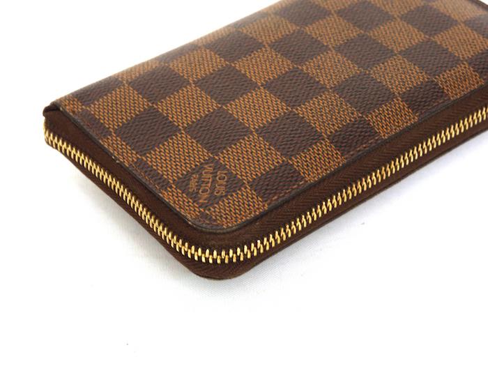 ■【極美品】ルイヴィトン Louis Vuitton ダミエ ジッピーコンパクトウォレット N60028 レザー メンズ 定価約9万_画像5