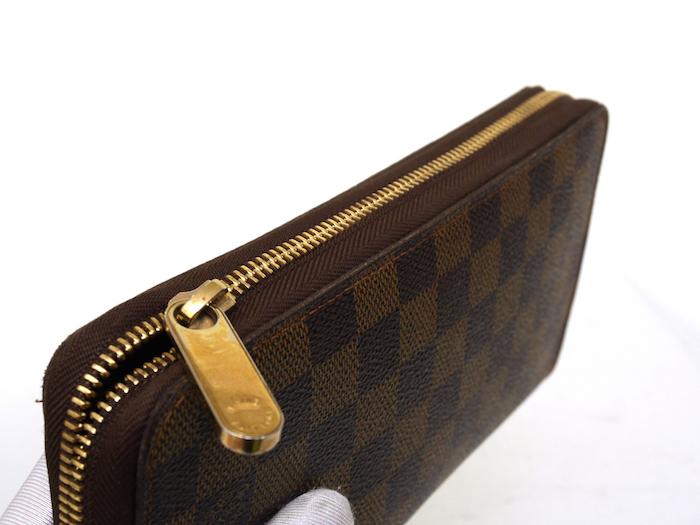 ■【極美品】ルイヴィトン Louis Vuitton ダミエ ジッピー オーガナイザー 長財布 メンズ レディース 定価約12万_画像6