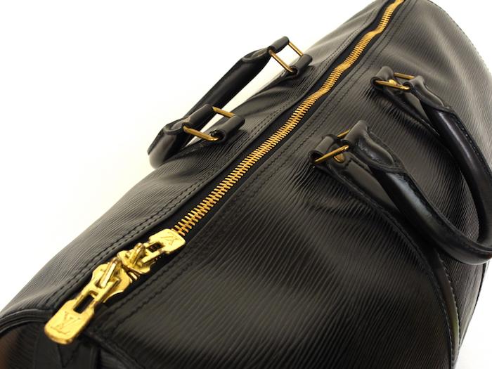 ■【極美品】LOUIS VUITTON ルイヴィトン エピ キーポル45 ボストンバッグ ノワール 旅行バッグ かばん 鞄 レザー 定価約24万_画像3