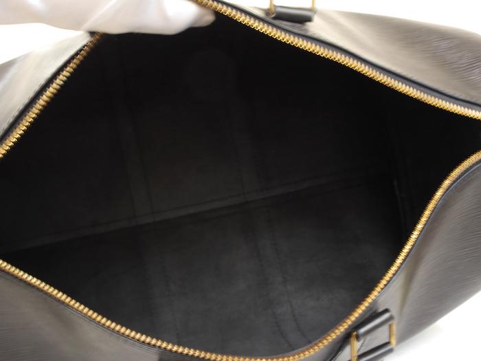 ■【極美品】LOUIS VUITTON ルイヴィトン エピ キーポル45 ボストンバッグ ノワール 旅行バッグ かばん 鞄 レザー 定価約24万_画像8