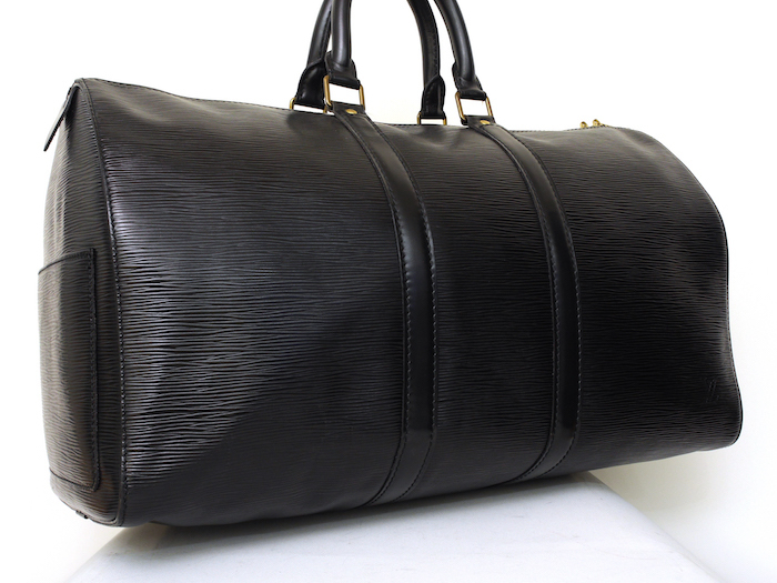 ■【極美品】LOUIS VUITTON ルイヴィトン エピ キーポル45 ボストンバッグ ノワール 旅行バッグ かばん 鞄 レザー 定価約24万_画像2