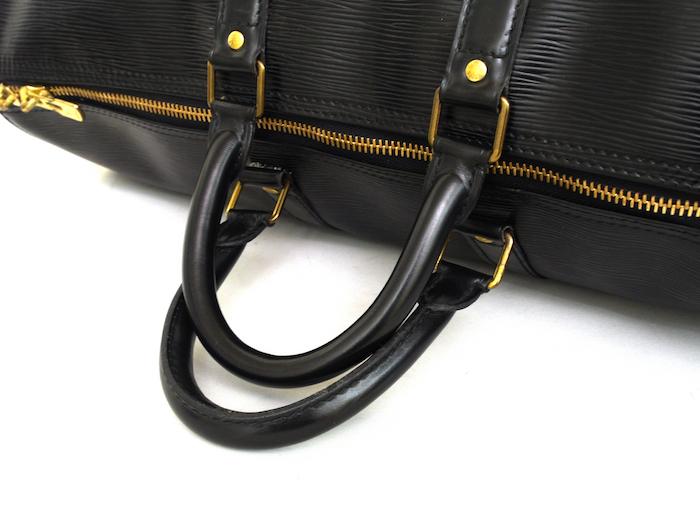 ■【極美品】LOUIS VUITTON ルイヴィトン エピ キーポル45 ボストンバッグ ノワール 旅行バッグ かばん 鞄 レザー 定価約24万_画像4