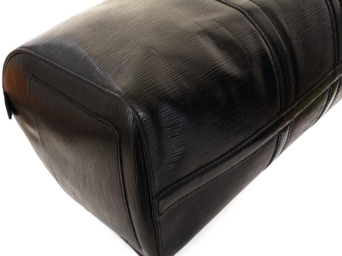 ■【極美品】LOUIS VUITTON ルイヴィトン エピ キーポル45 ボストンバッグ ノワール 旅行バッグ かばん 鞄 レザー 定価約24万_画像6
