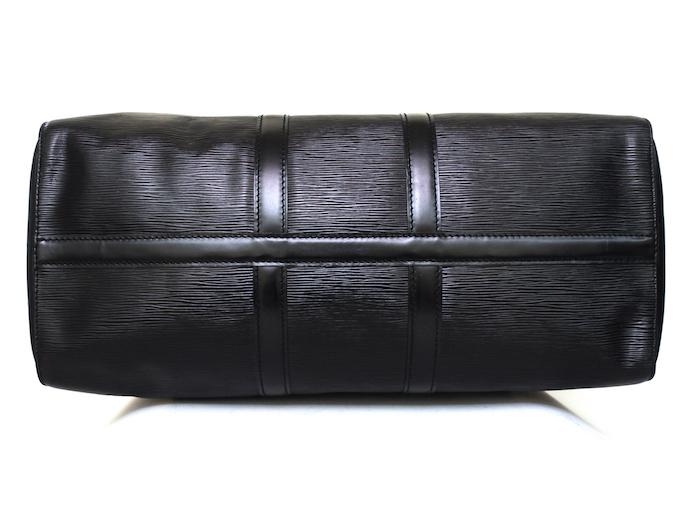 ■【極美品】LOUIS VUITTON ルイヴィトン エピ キーポル45 ボストンバッグ ノワール 旅行バッグ かばん 鞄 レザー 定価約24万_画像5