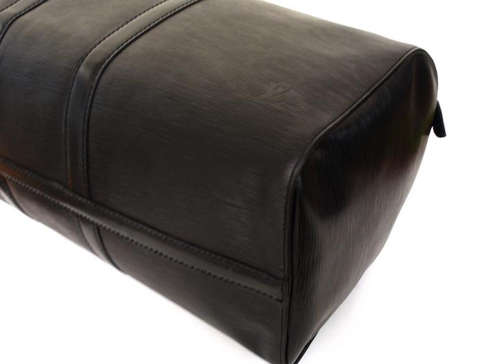 ■【極美品】LOUIS VUITTON ルイヴィトン エピ キーポル45 ボストンバッグ ノワール 旅行バッグ かばん 鞄 レザー 定価約24万_画像7