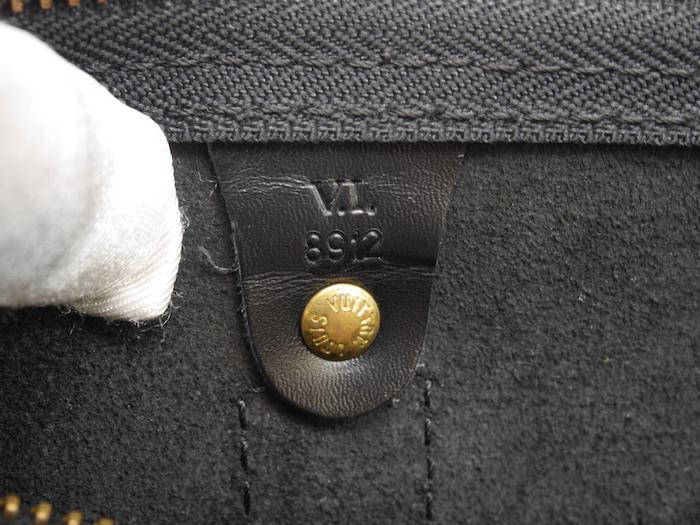 ■【極美品】LOUIS VUITTON ルイヴィトン エピ キーポル45 ボストンバッグ ノワール 旅行バッグ かばん 鞄 レザー 定価約24万_画像9