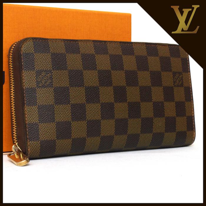 ■【極美品】ルイヴィトン Louis Vuitton ダミエ ジッピー オーガナイザー 長財布 メンズ レディース 定価約12万
