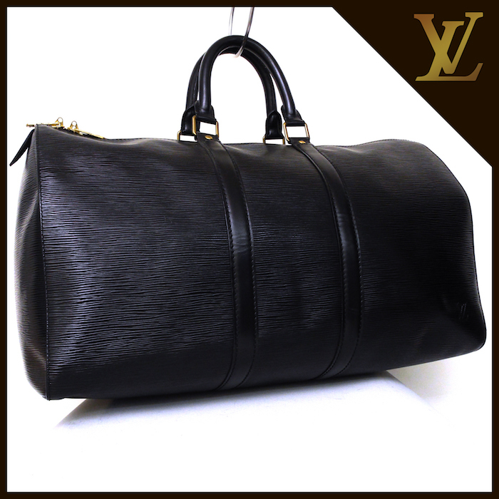 ■【極美品】LOUIS VUITTON ルイヴィトン エピ キーポル45 ボストンバッグ ノワール 旅行バッグ かばん 鞄 レザー 定価約24万