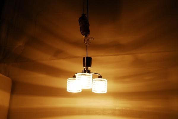 8764 3灯 シャンデリア インターフォルム LT-2073ST 天井照明 ガラスシェード_画像3