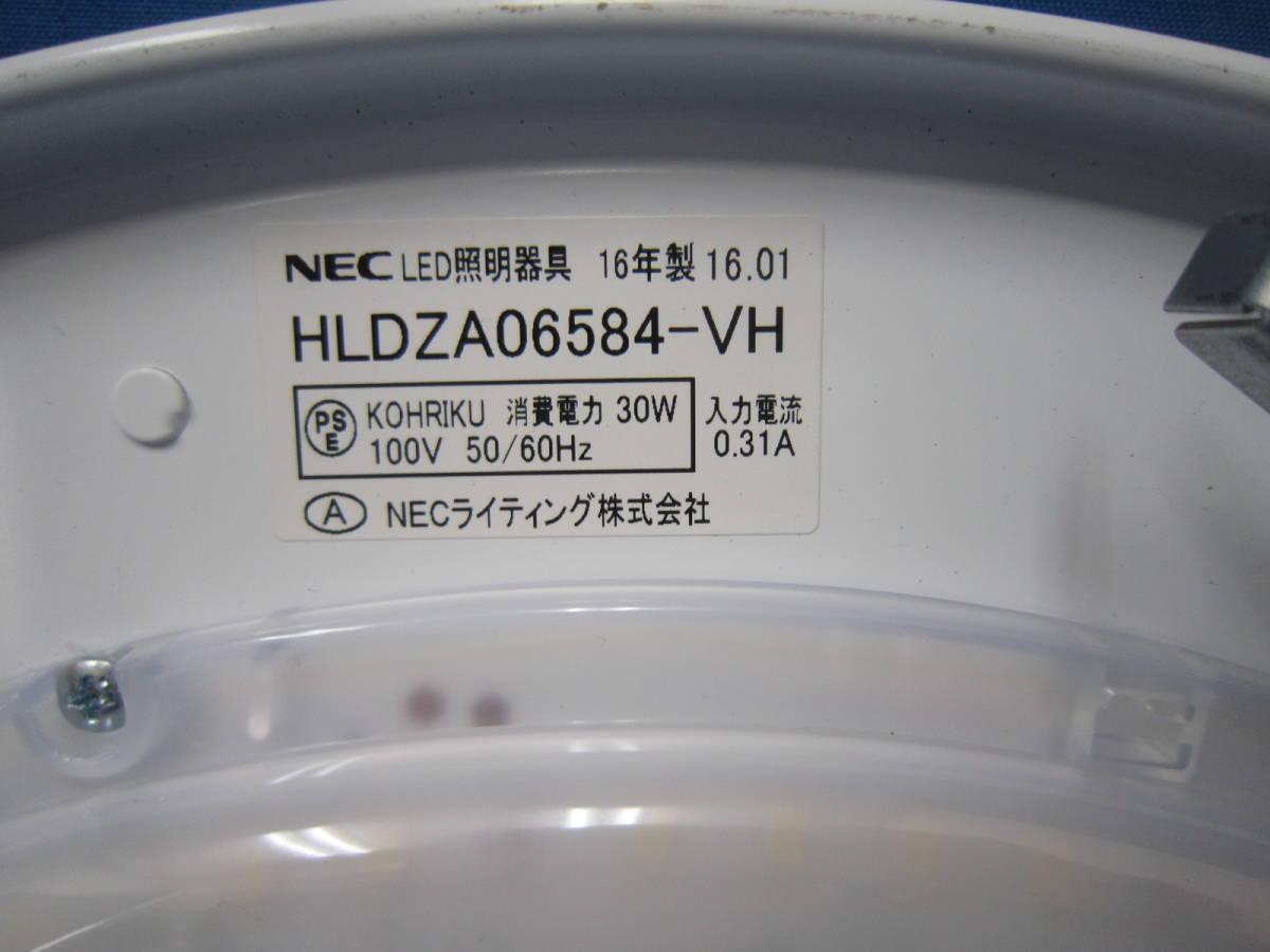 1円~美品!NEC LEDシーリングライト HLDZA06584 ~6畳 昼光色 調色 2016年製 リモコン付き 照明器具/2_画像4