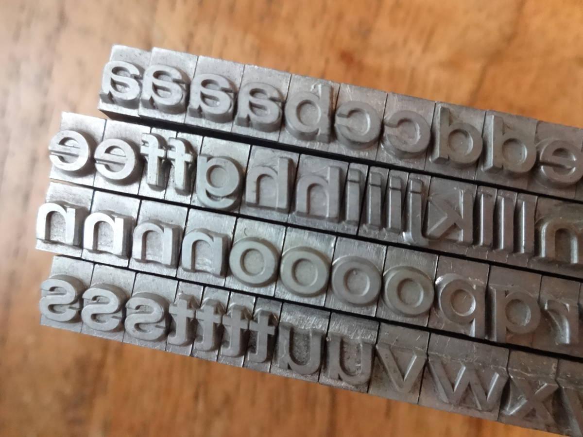 16pt 小文字 Folio medium EXT italic  アルファベット メタルスタンプ
