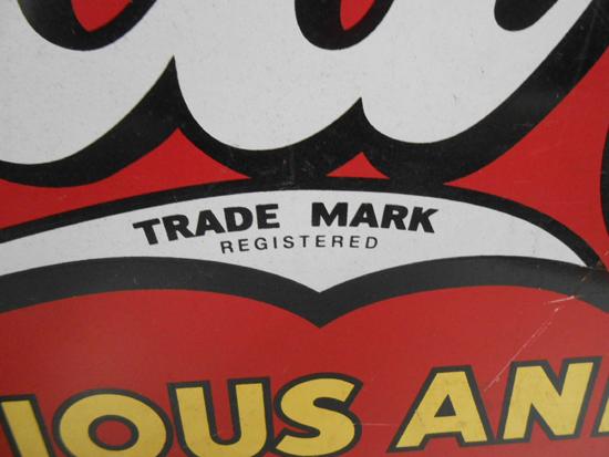 レトロ CocaCola/コカコーラ 看板 DRINK 片面 金属製 ビンテージ リボン型 店舗販促品 約 幅69×高32.5cm 札幌発_画像3