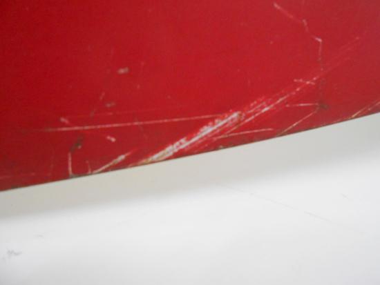 レトロ CocaCola/コカコーラ 看板 DRINK 片面 金属製 ビンテージ リボン型 店舗販促品 約 幅69×高32.5cm 札幌発_画像4
