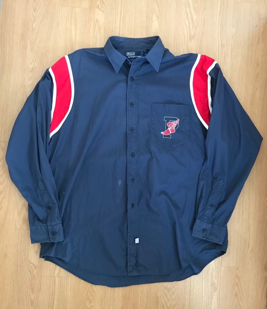 VTG vintage RALPH LAUREN ウイングフット P wing 長袖シャツ  92 1992_画像2