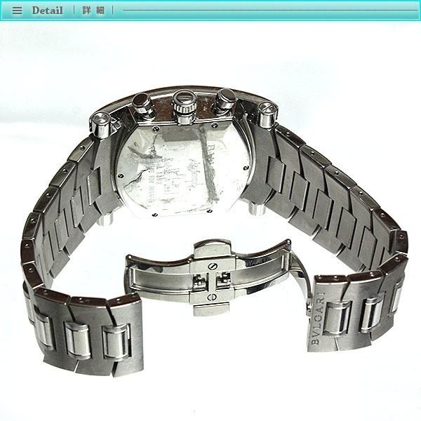 BVLGARI ブルガリ アショーマ クロノグラフ メンズ腕時計 オートマチック AA48SCH グレー文字盤 シルバー 定番 人気_画像4
