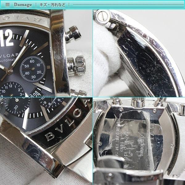 BVLGARI ブルガリ アショーマ クロノグラフ メンズ腕時計 オートマチック AA48SCH グレー文字盤 シルバー 定番 人気_画像5