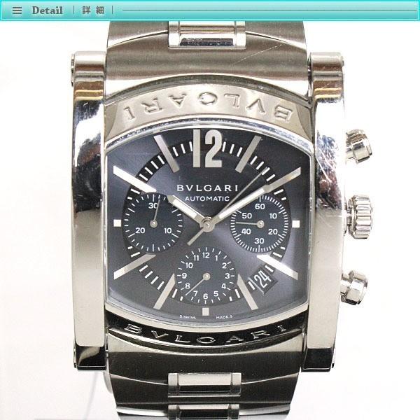 BVLGARI ブルガリ アショーマ クロノグラフ メンズ腕時計 オートマチック AA48SCH グレー文字盤 シルバー 定番 人気_画像2
