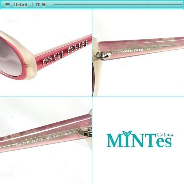 Miu Miu ミュウミュウ ラインストーン サングラス SMU21G ピンク グラデーション ロゴ_画像3