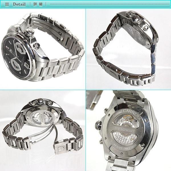 大人気 TAG Heuer タグホイヤー グランドカレラ クロノグラフ メンズ腕時計 オートマチック CAV511A  裏スケ  キャリバー17_画像3