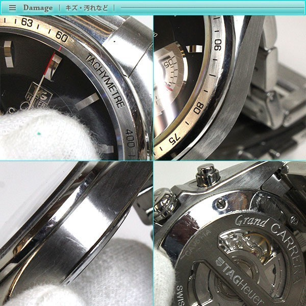 大人気 TAG Heuer タグホイヤー グランドカレラ クロノグラフ メンズ腕時計 オートマチック CAV511A  裏スケ  キャリバー17_画像5