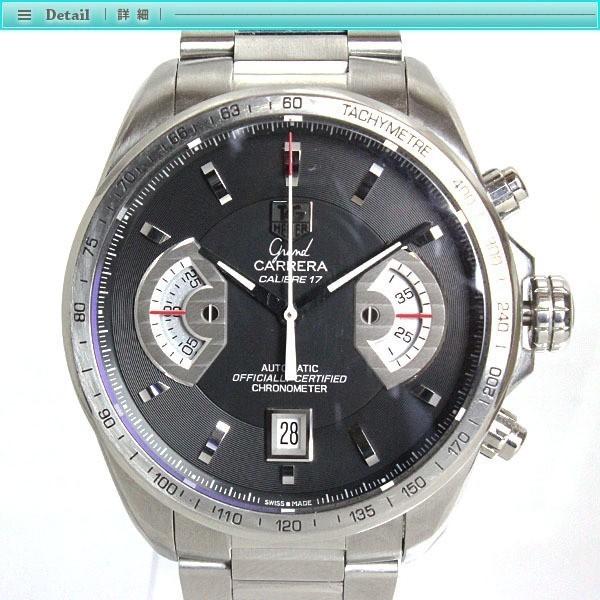 大人気 TAG Heuer タグホイヤー グランドカレラ クロノグラフ メンズ腕時計 オートマチック CAV511A  裏スケ  キャリバー17_画像2