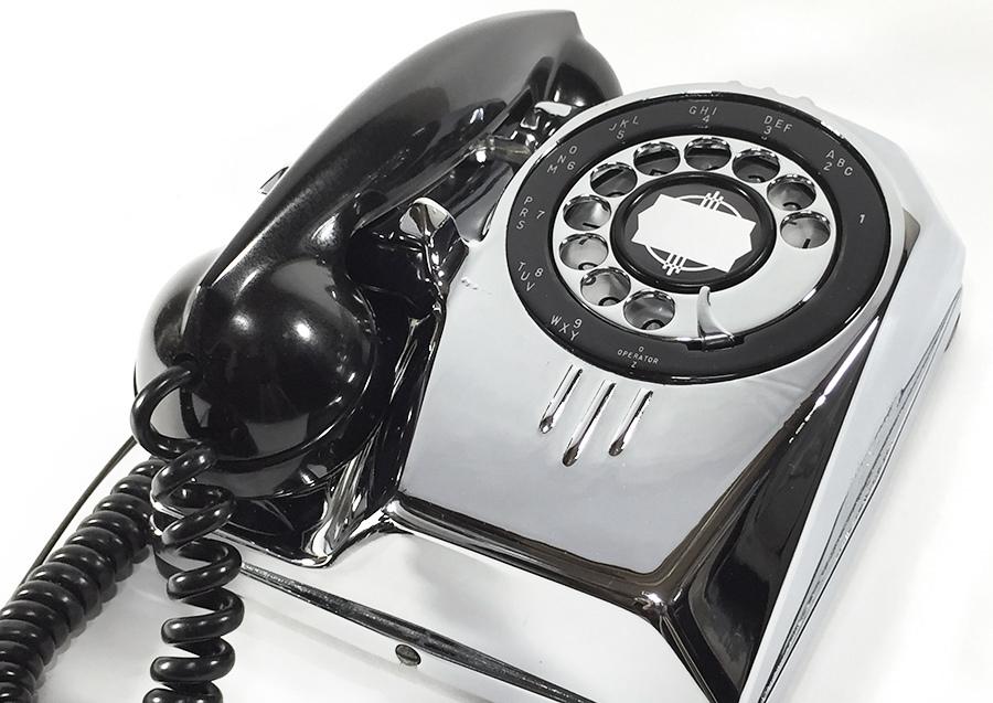【実働】USAアンティーク 2-way 電話機/ビンテージ/ランプ/照明/家具/工業系/店舗什器/米軍ハウス/古道具/o.c.white/黒電話/ソファー/椅子_画像4