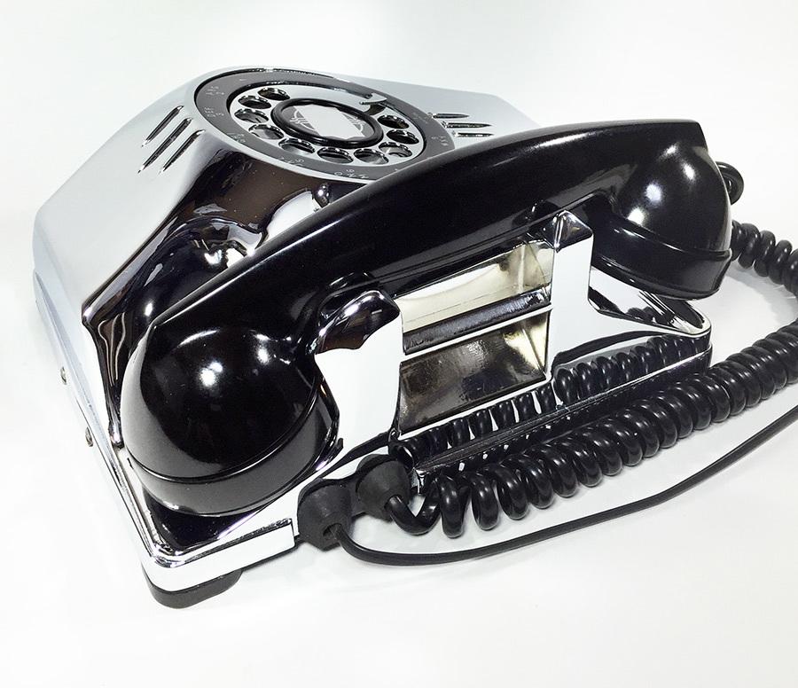 【実働】USAアンティーク 2-way 電話機/ビンテージ/ランプ/照明/家具/工業系/店舗什器/米軍ハウス/古道具/o.c.white/黒電話/ソファー/椅子_画像8