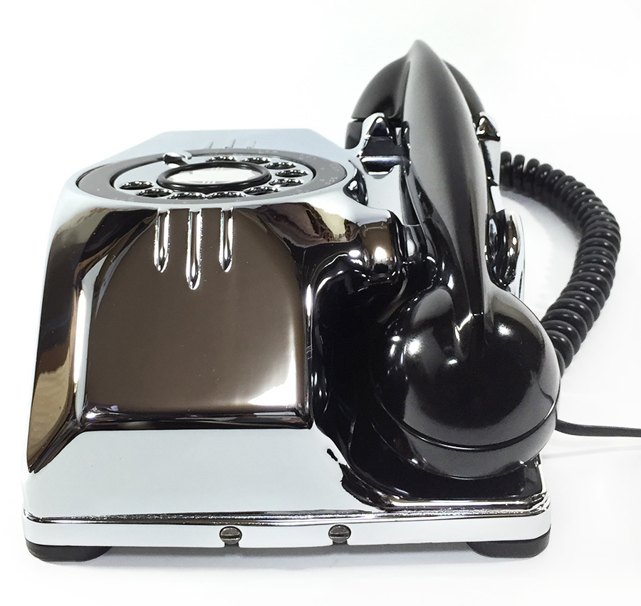 【実働】USAアンティーク 2-way 電話機/ビンテージ/ランプ/照明/家具/工業系/店舗什器/米軍ハウス/古道具/o.c.white/黒電話/ソファー/椅子_画像6