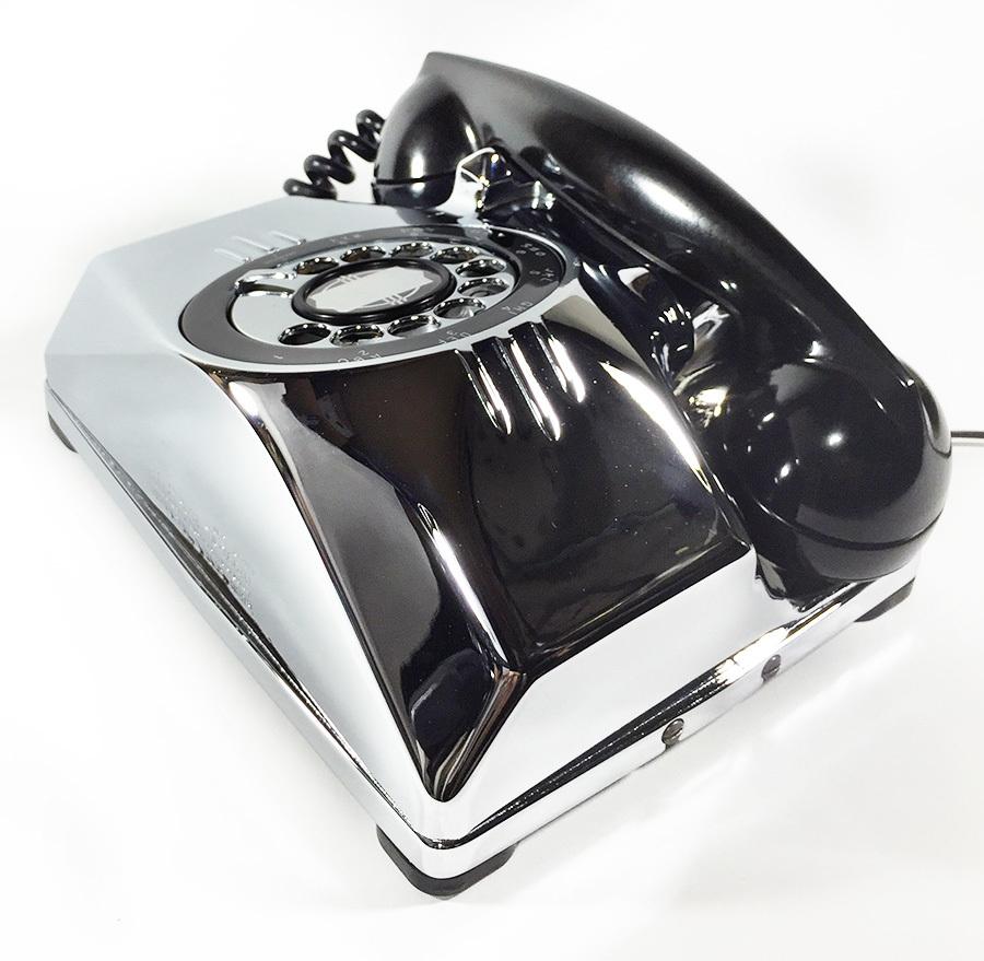 【実働】USAアンティーク 2-way 電話機/ビンテージ/ランプ/照明/家具/工業系/店舗什器/米軍ハウス/古道具/o.c.white/黒電話/ソファー/椅子_画像7