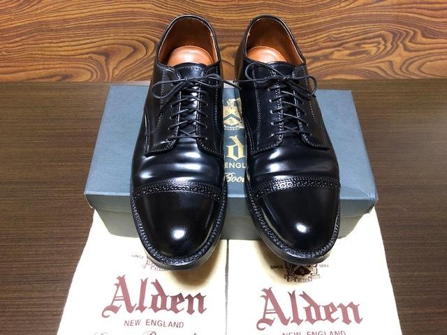 美品 Alden オールデン J.CREW別注 43565 コードバン US7.5D 黒 送料無料_画像1