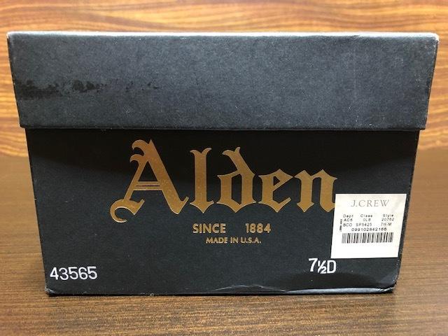美品 Alden オールデン J.CREW別注 43565 コードバン US7.5D 黒 送料無料_画像6