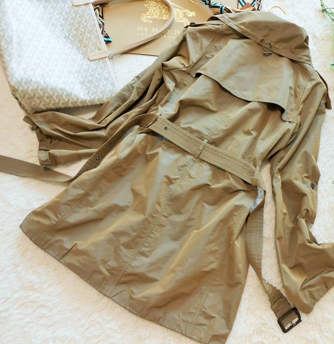 BURBERRY  LONDON  バーバリー ロンドン  トレンチコート  スプリングコート ベルト付き ノバチェック  サイズ 38 M~_画像6