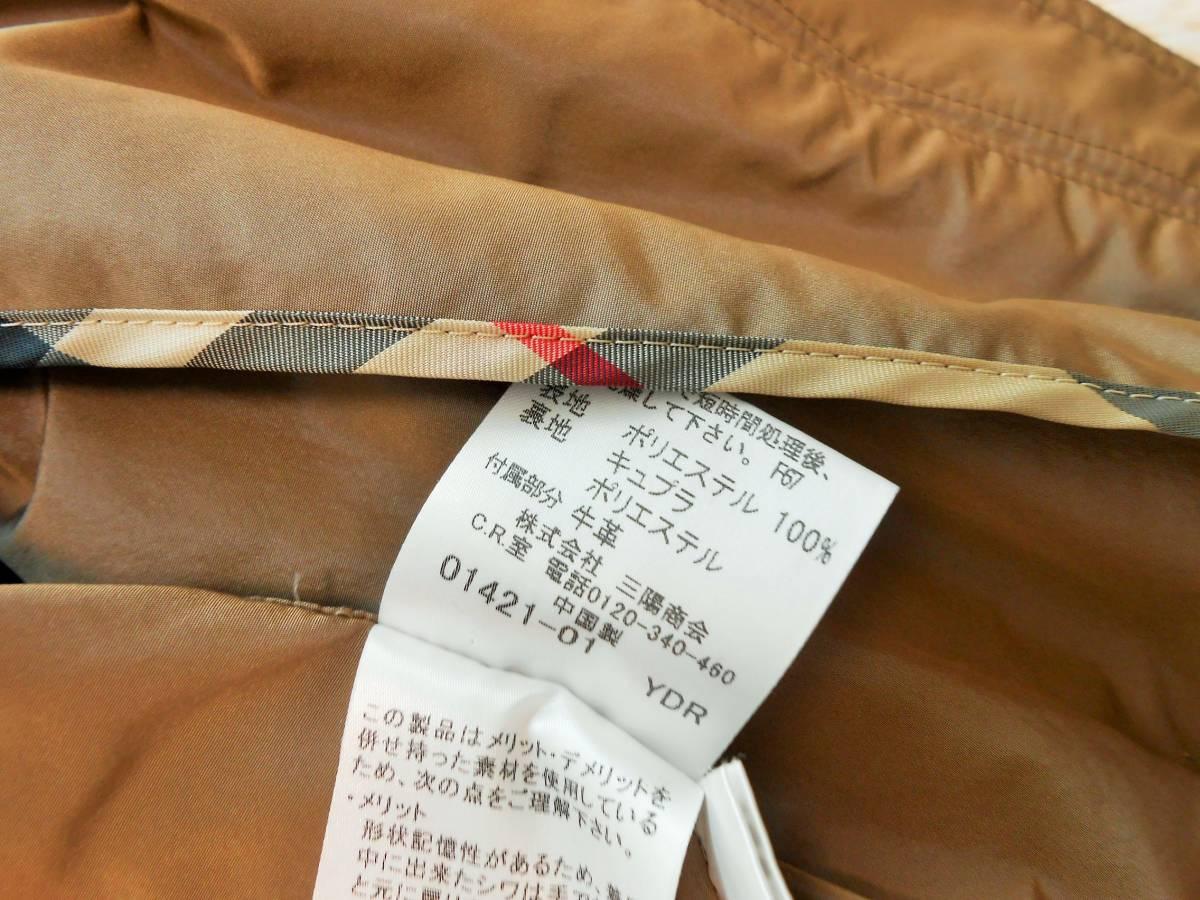 BURBERRY  LONDON  バーバリー ロンドン  トレンチコート  スプリングコート ベルト付き ノバチェック  サイズ 38 M~_画像7