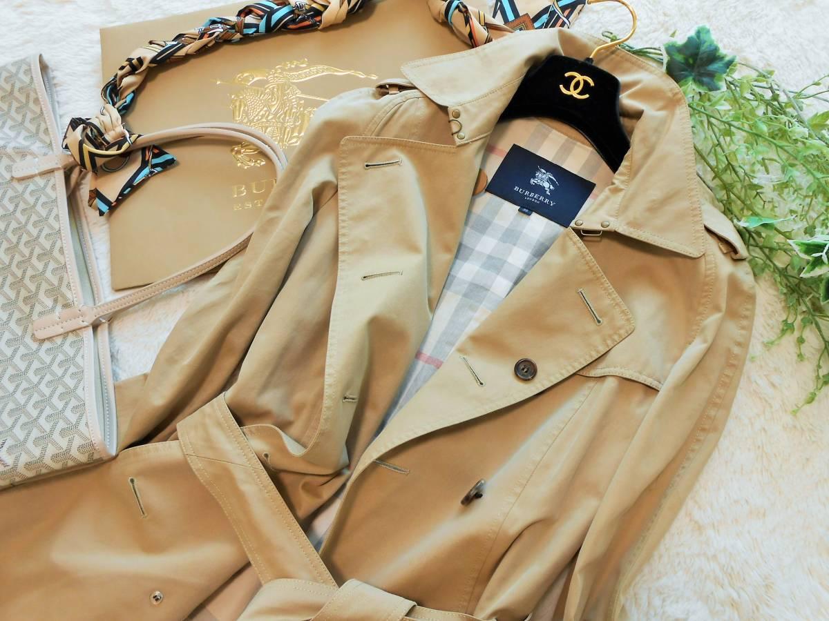 BURBERRY  LONDON  バーバリー ロンドン  トレンチコート  スプリングコート ベルト付き ノバチェック  サイズ 38 M~_画像2